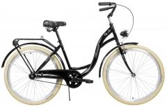 Moteriškas dviratis AZIMUT City Lux 26 2021 black-cream Miesto dviračiai
