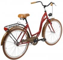 Dviratis moterims AZIMUT City Lux 26 2021 bordo-brown Miesto dviračiai