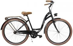Dviratis AZIMUT City Lux 28 2019 black-brown City bikes