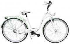 Dviratis AZIMUT City Lux 28 2019 white-mint Miesto dviračiai