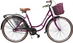 Dviratis AZIMUT Holland Retro 28 Nexus3 2019 burgund City bikes