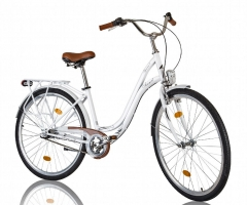 Dviratis AZIMUT Iguana 28 Nexus3 2016 white Miesto dviračiai