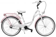 Dviratis AZIMUT Julie 24 2019 white-pink Paauglių dviračiai