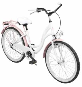 Dviratis AZIMUT Julie 24 2020 white-pink Paauglių dviračiai