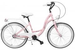 Dviratis AZIMUT Julie 24 Nexus3 2019 pink-white Paauglių dviračiai