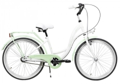 Dviratis AZIMUT Julie 24 Nexus3 2020 white-mint Teens bikes