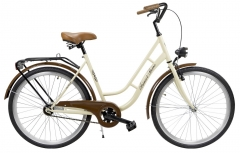 Dviratis AZIMUT Retro 26 2019 cream Miesto dviračiai