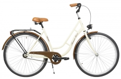 Velosipēds AZIMUT Retro 28 2020 cream Pilsētas velosipēdi