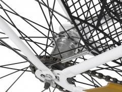 Dviratis AZIMUT Retro Lux 28 2019 white-brown Miesto dviračiai