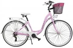 Dviratis AZIMUT Sarema 28 ALU TX 6-speed 2020 pink Miesto dviračiai