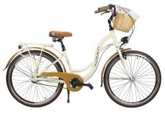 Moteriškas miesto dviratis AZIMUT Sarema ALU 26 3-speed 2021 cream Miesto dviračiai