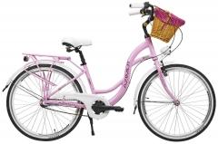Dviratis AZIMUT Sarema ALU 26 3-speed 2021 pink Miesto dviračiai