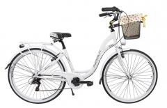 Dviratis AZIMUT Sarema ALU 28 TX 6-speed 2019 white City bikes