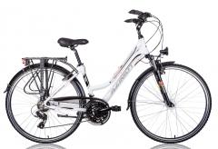 Dviratis AZIMUT Trekking 2.0 Lady 2016 white -17 Touring bikes (atb)