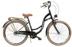 Dviratis AZIMUT Vintage 26 Nexus-3 2019 black-brown City bikes