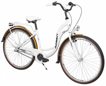 Moteriškas dviratis AZIMUT Vintage 28 3-speed 2021 white-cream Miesto dviračiai