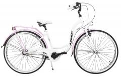 Moteriškas dviratis AZIMUT Vintage 28 3-speed 2021 white-pink