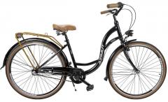 Dviratis AZIMUT Vintage 28 Nexus-3 2019 black-brown Miesto dviračiai