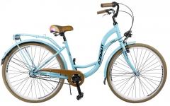 Dviratis AZIMUT Vintage 28 Nexus-3 2019 turquoise-brown Miesto dviračiai