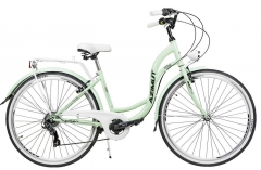 Miesto dviratis moterims AZIMUT Vintage TX 28 6-speed 2021 mint-white