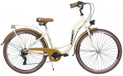 Dviratis moterims AZIMUT Vintage TX-6 28 2021 cream-brown Miesto dviračiai