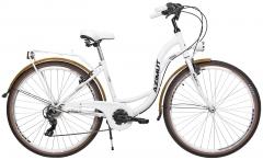 Dviratis moterims AZIMUT Vintage TX-6 28 2021 white-cream Miesto dviračiai