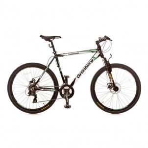Dviratis Forward 26er 21sp Men Black green Mountain bikes (mtb)