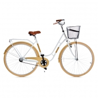 Dviratis Holland single speed, white/beige 28 City bikes