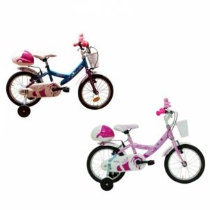 Dviratis Joy Azzurro/Rosa Carratt size 12 Bikes for kids