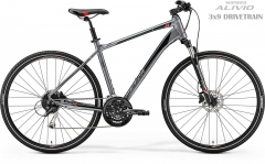 Velosipēds Merida CROSSWAY 100 2019 dark silver L(55) Hibrīdu (Cross) velosipēdi
