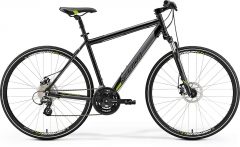 Velosipēds Merida CROSSWAY 15-MD 2019 metallic black S(46) Hibrīdu (Cross) velosipēdi