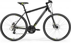 Velosipēds Merida CROSSWAY 15-MD 2019 metallic black XXL(61) Hibrīdu (Cross) velosipēdi