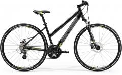 Velosipēds Merida CROSSWAY 15-MD Lady 2019 metallic black XS(42) Hibrīdu (Cross) velosipēdi