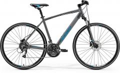 Velosipēds Merida CROSSWAY 40-D 2019 dark silver Hibrīdu (Cross) velosipēdi