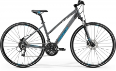 Dviratis Merida CROSSWAY 40-D Lady 2019 dark silver M(50) Hybrid (cross) bikes