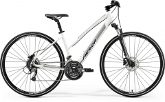 Dviratis Merida CROSSWAY 40-D Lady 2019 silk pearl-white L(54) Hybrid (cross) bikes