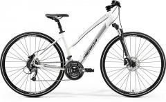 Dviratis Merida CROSSWAY 40-D Lady 2019 silk pearl-white S(46) Hibridiniai (Cross) dviračiai