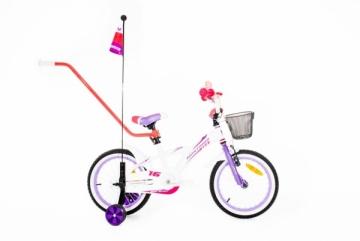 Dviratis Monteria 16 ALU white-violet-pink Dviračiai, triračiai vaikams