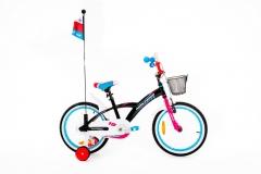 Dviratis Monteria 18 ALU black-pink-blue Dviračiai, triračiai vaikams