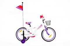 Dviratis Monteria 18 ALU white-violet-pink Dviračiai, triračiai vaikams