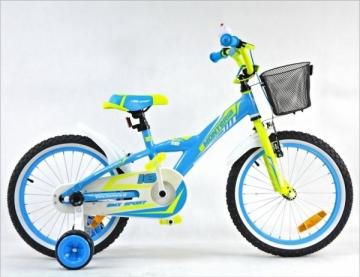 Dviratis Monteria Kid ALU 18 blue-green 2016 Bikes for kids
