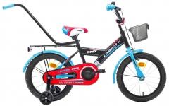 Vaikiškas dviratis Monteria Limber 16 black-blue-red Dviračiai, triračiai vaikams