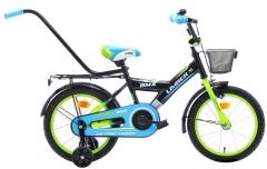 Dviratis vaikams Monteria Limber 16 black-green-blue Dviračiai, triračiai vaikams