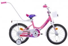 Dviratis mergaitėms Monteria Limber 16 bright pink Dviračiai, triračiai vaikams