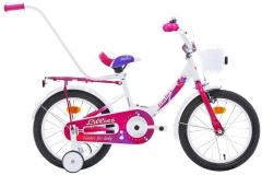 Dviratis Monteria Limber 16 white-pink Dviračiai, triračiai vaikams