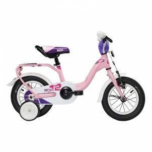 Dviratis niXe alloy 1 speed-lightpink matt size 12 Bikes for kids