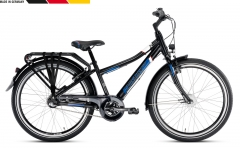 Dviratis PUKY Crusader 24-3 Alu City Light black Paauglių dviračiai