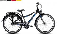 Dviratis PUKY Crusader 24-7 Alu City Light black Paauglių dviračiai