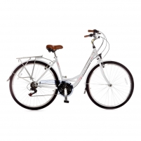 Dviratis Rambler 21sp Ws White/pink 44CM Bikes available
