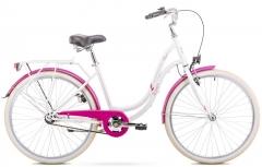 Dviratis Romet Angel 26 2020 white-pink Miesto dviračiai